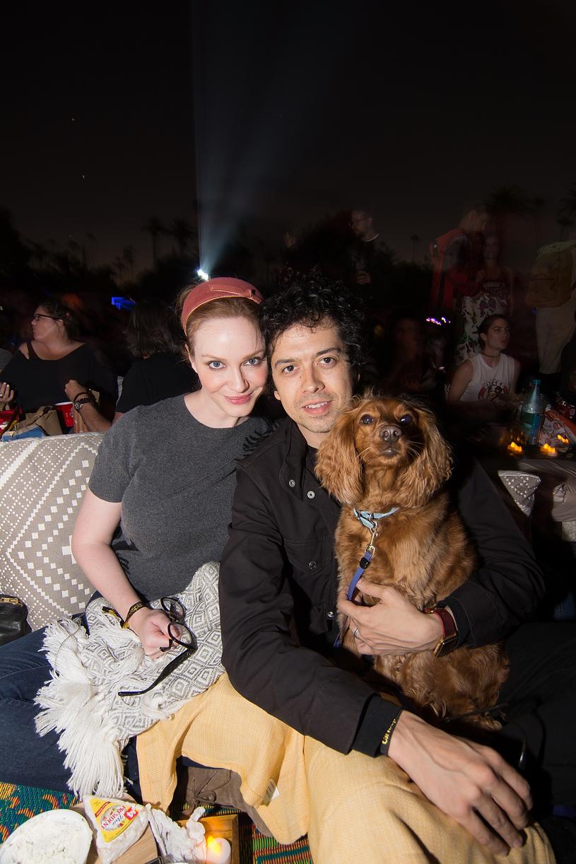 Christina Hendricks i Geoffrey Arend z psem /Kelly Lee Barrett /Getty Images