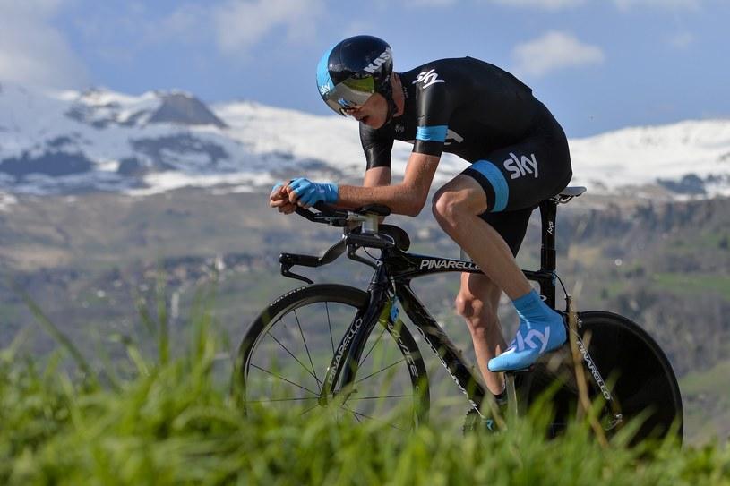 Christopher Froome na trasie prologu podczas Tour de Romandie /AFP