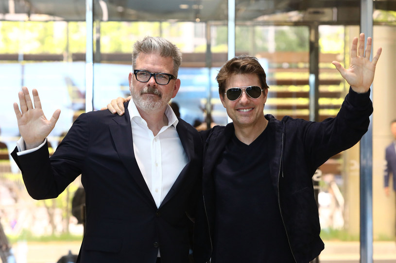 "Christopher McQuarrie i Tom Cruise na pokazie filmu ""Mission: Impossible - Fallout"" w Seulu w Korei Południowej (2018 /Chung Sung-Jun /Getty Images"