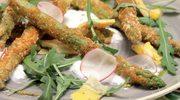 Chrupiące szparagi podane z omletem