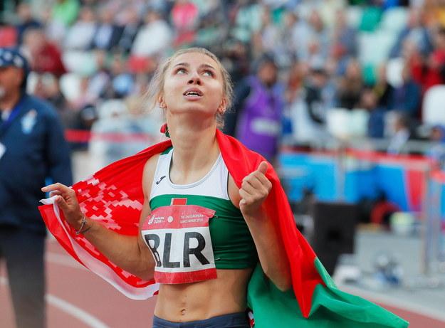 Chryscina Cimanouska (zdjęcie z 2019 roku) /SERGEY DOLZHENKO /PAP/EPA