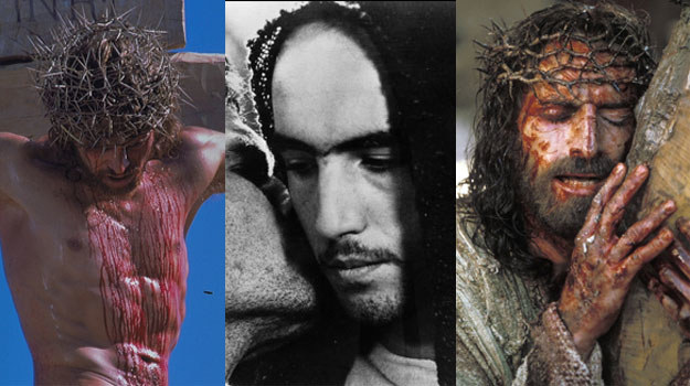 Chrystus u Martina Scorsese (L), Mela Gibsona (P) i Pier Paolo Pasoliniego (C) /materiały prasowe