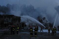 Chrzanów: Pożar zakładu produkującego aerozole