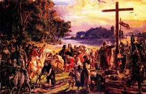 "Chrzest Polski - 966 r. ""Mesco dux Poloniae baptizatur"""