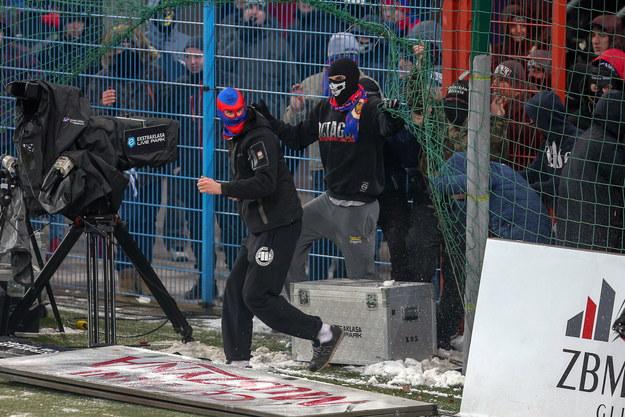 Chuligańskie wybryki na stadionie Piasta Gliwice. Komisja Ligi wymierzyła karę