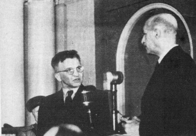 Churchill domagał się od Stalina informacji o generale Okulickim (z lewej). Nigdy nie otrzymał odpowiedzi /Wikimedia Commons /materiały prasowe