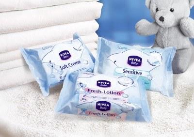 Chusteczki oczyszczające NIVEA Baby w trzech wariantach /materiały prasowe