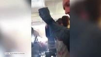 Chwile grozy pasażerów podczas lotu samolotem