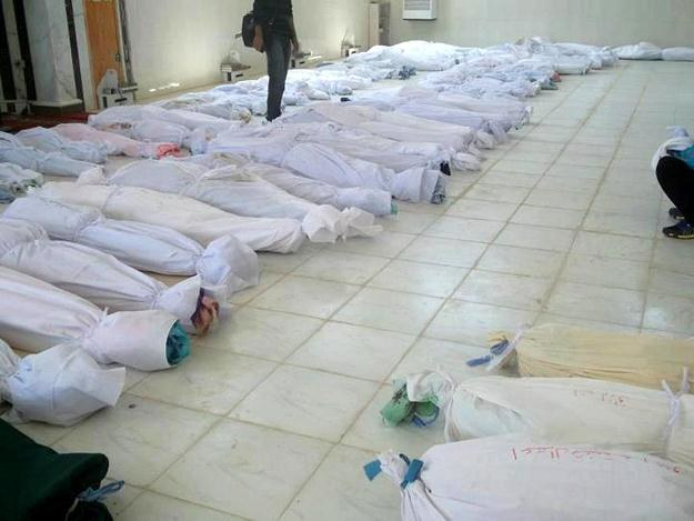 Ciała zamordowanych Syryjczyków /AFP