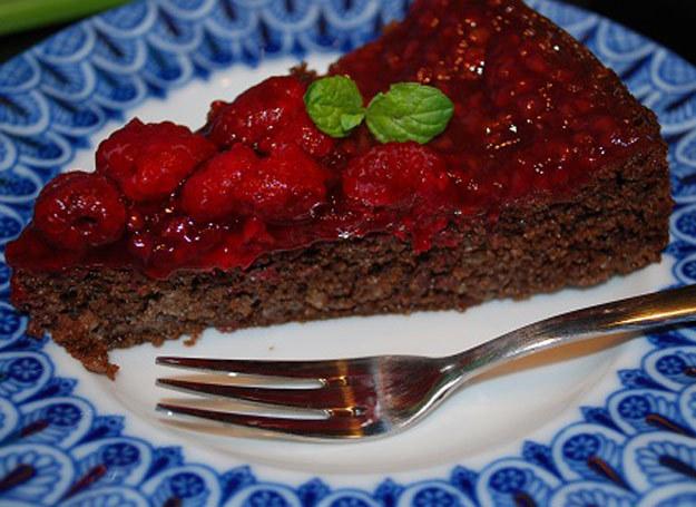 Ciasto czekoladowo-malinowe z miętą /Rodzice w kuchni