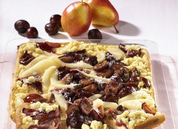 Ciasto gruszkowo-śliwkowe