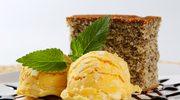 Ciasto imbirowe z sorbetem