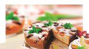 Ciasto marcepanowe zorzechami