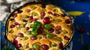 Ciasto marcepanowo-migdałowe z lukrem