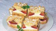 Ciasto serowe  z kruszonką