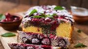 Ciasto ucierane z makiem i wiśniami