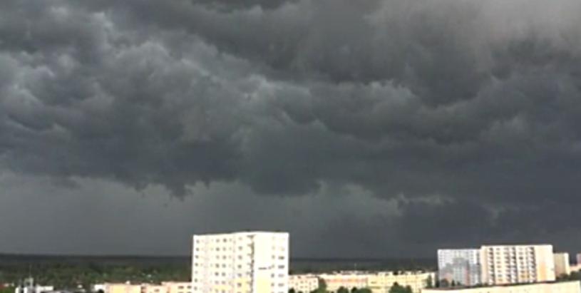 Ciemne chmury nad Bydgoszczą /YouTube