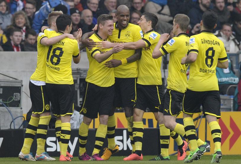Cieszący się piłkarze Borussii Dortmund /AFP