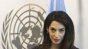 Ciężarna Amal Clooney na forum ONZ poruszyła temat Państwa Islamskiego