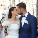 Ciężarna Anna Kerth z mężem na premierze