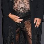 Ciężarna Kim Kardashian w koronkach! Seksowna?