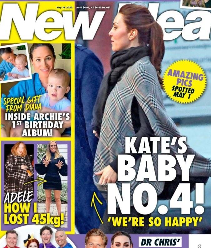 Ciężarna księżna Kate na okładce tabloidu /materiał zewnętrzny