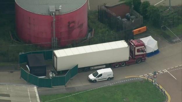 Ciężarówka, w której dokonano makabrycznego odkrycia /RUPTLY /X-news