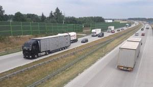 Ciężarówka wpadła do rowu. Utrudnienia na autostradzie A1