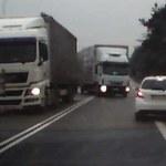 Ciężarówka wyprzedzała na podwójnej ciągłej. Było o krok od tragedii