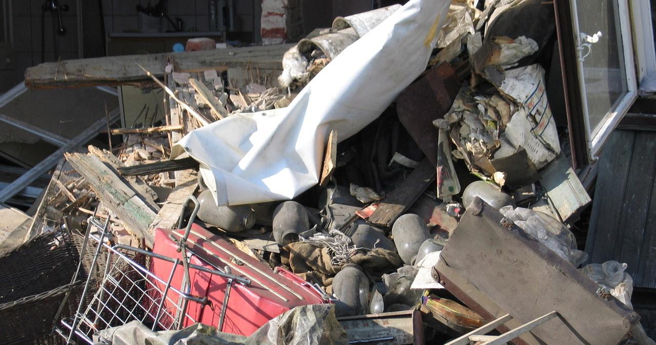 Ciężarówka zniszczyła dom w Łodzi