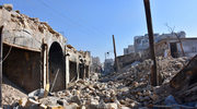 Ciężkie bombardowanie pozycji rebeliantów w Aleppo