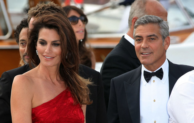 Cindy Crawford i George Clooney /Frederick Nebinger /Getty Images