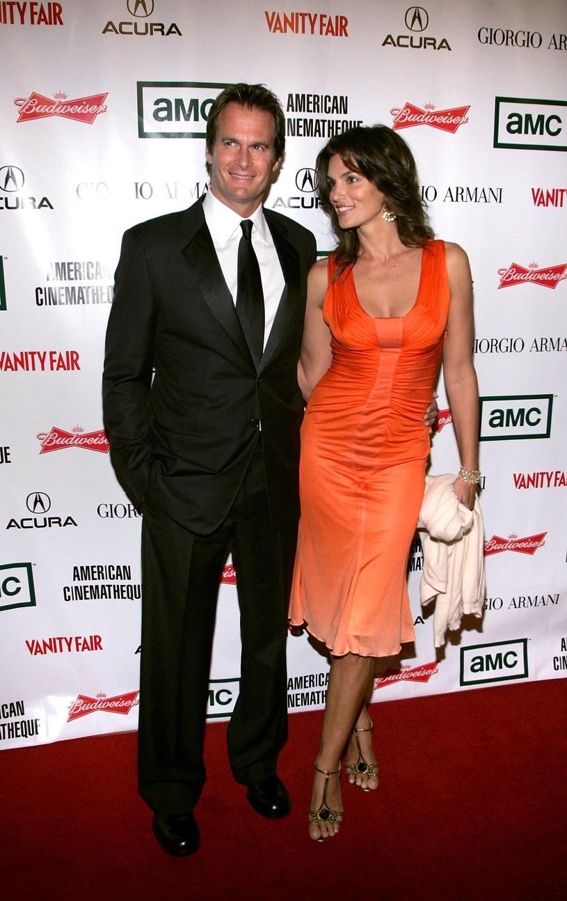 Cindy Crawford z mężem /Mark Mainz /Getty Images