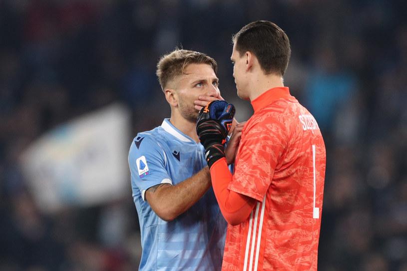 """Ciro Immobile i Wojciech Szczęsny - gdyby sezon nadal grał to Lazio z """"Juve"""" rywalizowałoby o mistrzostwo /East News"""