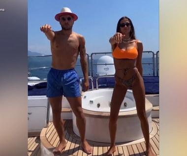 Ciro Immobile tańczy na urlopie. Towarzyszyła mu jego partnerka. Wideo