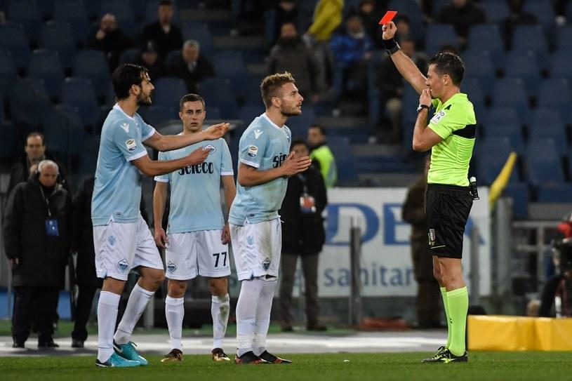 Ciro Immobile zobaczył czerwoną kartkę w meczu z Torino /AFP
