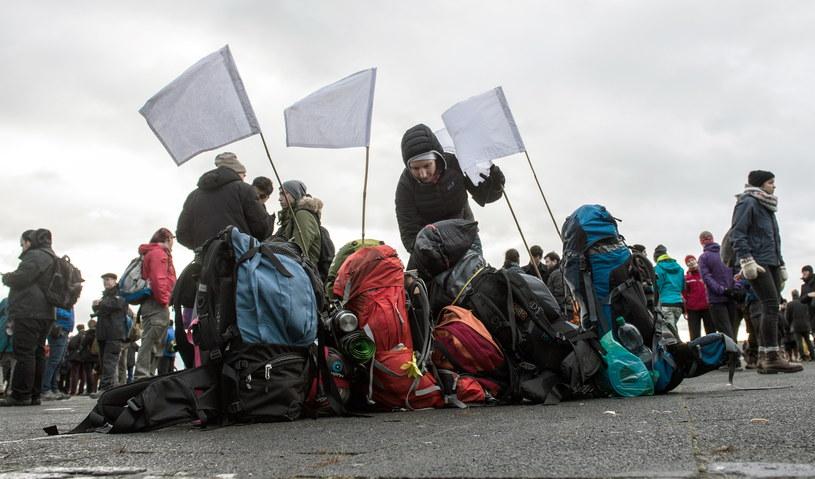 Civil March For Aleppo wyruszył 26 grudnia z Berlina /PAUL ZINKEN/DPA /Agencja FORUM