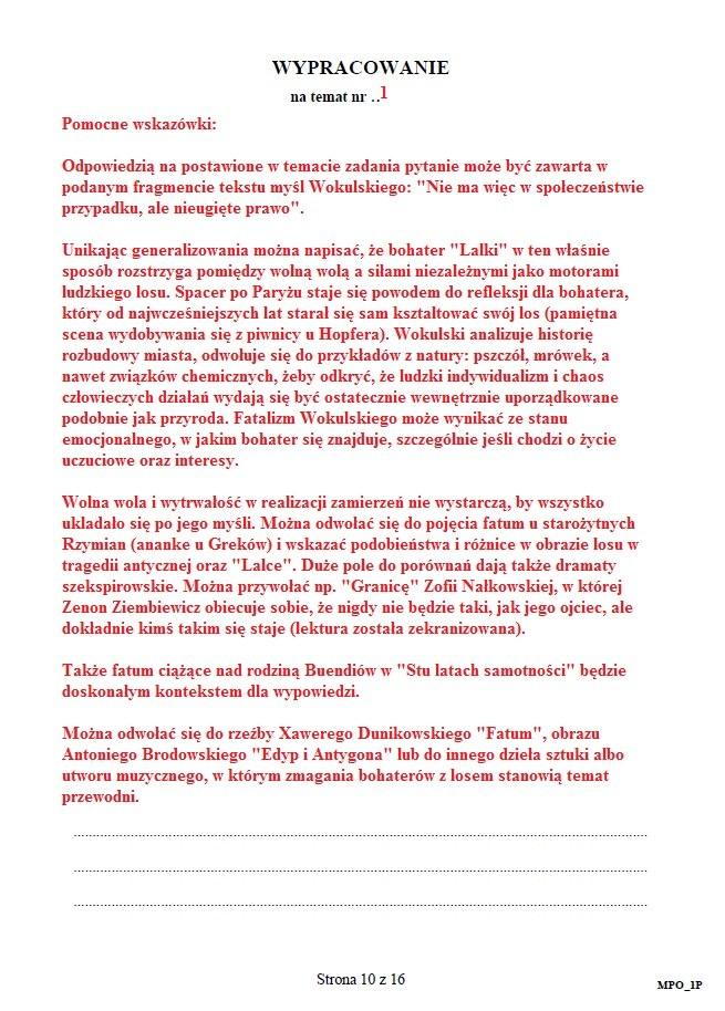 Matura 2015 Język Polski Część Podstawowa Arkusz I