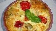 Clafoutis z pomidorkow cherry