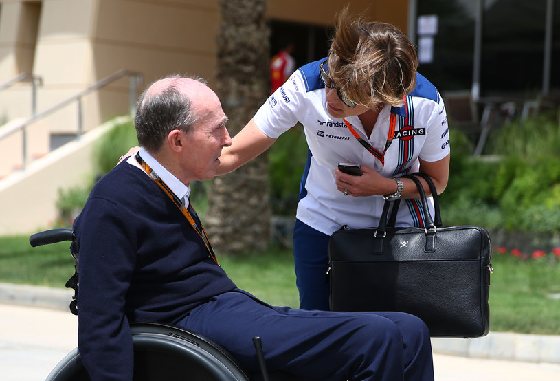 Claire Williams (z prawej) i Sir Frank Williams /Getty Images