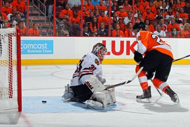 Claude Giroux przesądził o zwycięstwie Flyers w meczu numer trzy wielkiego finału /AFP