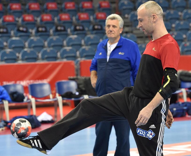 Claude Onesta i Thierry Omeyer /Jacek Bednarczyk /PAP