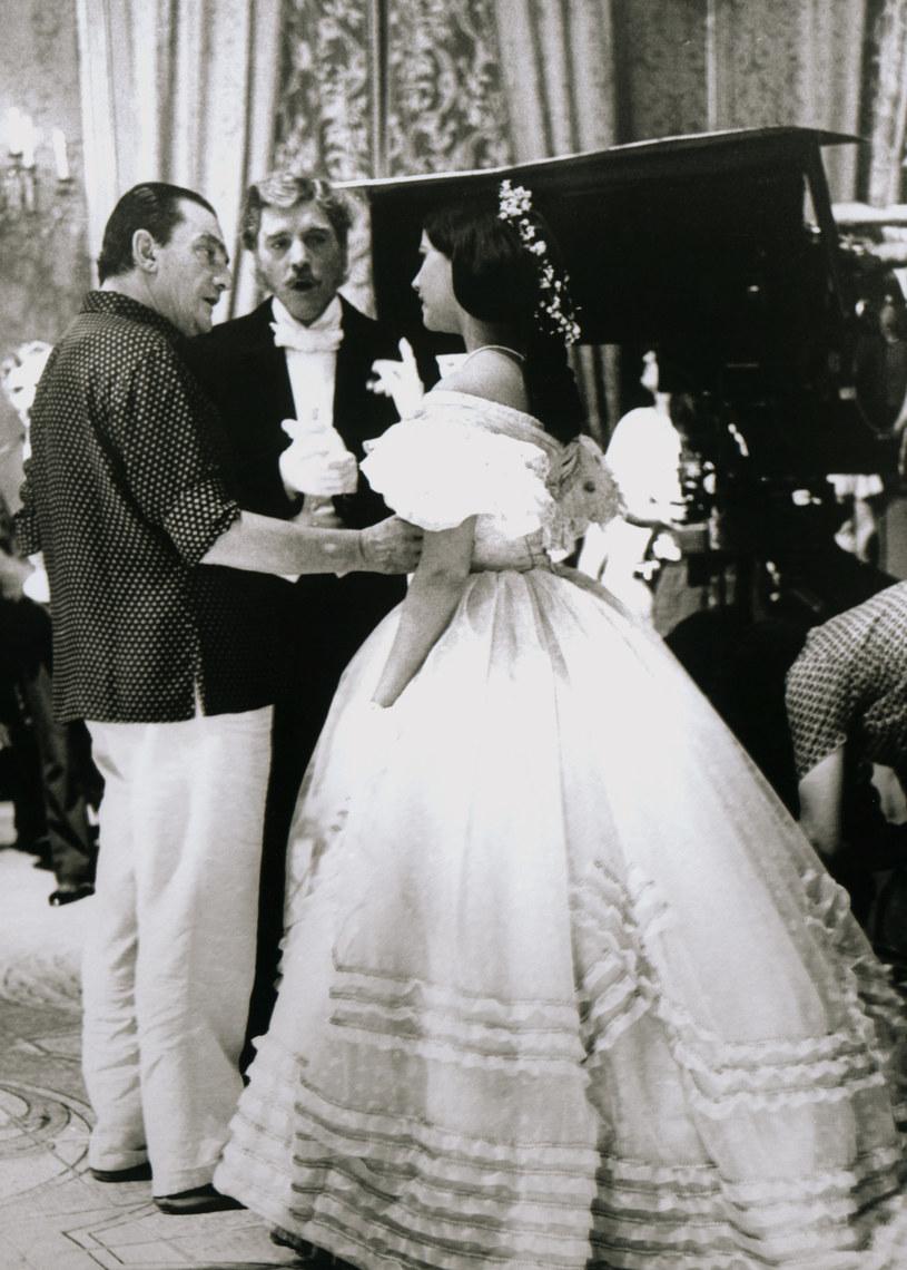 "Claudia Cardinale, Luchino Visconti i Burt Lancaster na planie filmu ""Lampart"" (1963) /AKPA"
