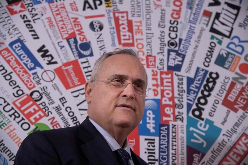 Claudio Lotito, prezydent Lazio, broni klubu przed oskarżeniami /AFP