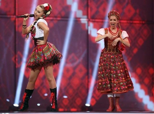Cleo na scenie podczas finału /JOERG CARSTENSEN   /PAP/EPA