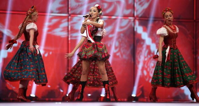 Cleo podczas finałowego występu /PAP/EPA/JOERG CARSTENSEN /PAP/EPA