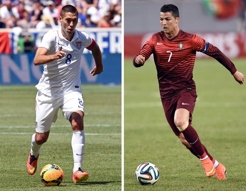 Clint Dempsey i Cristiano Ronaldo, kto będzie lepszy? /AFP