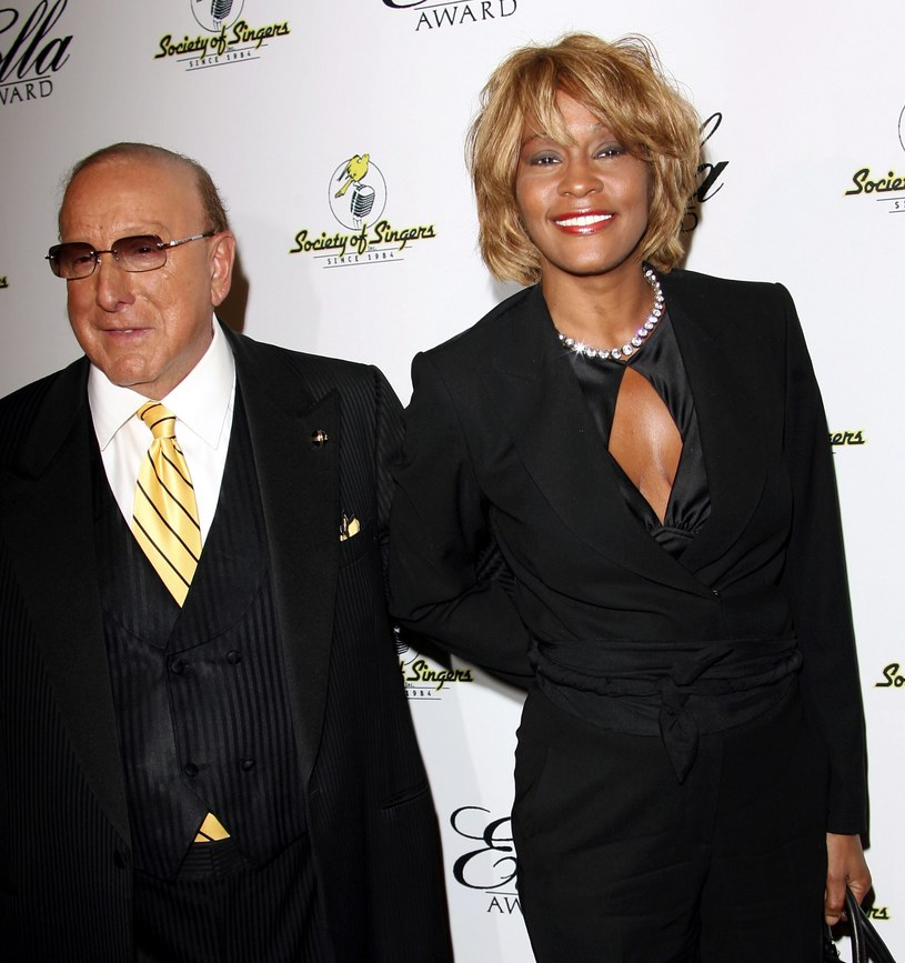 Clive Davis i Whitney Houston /Frederick M. Brown /Getty Images