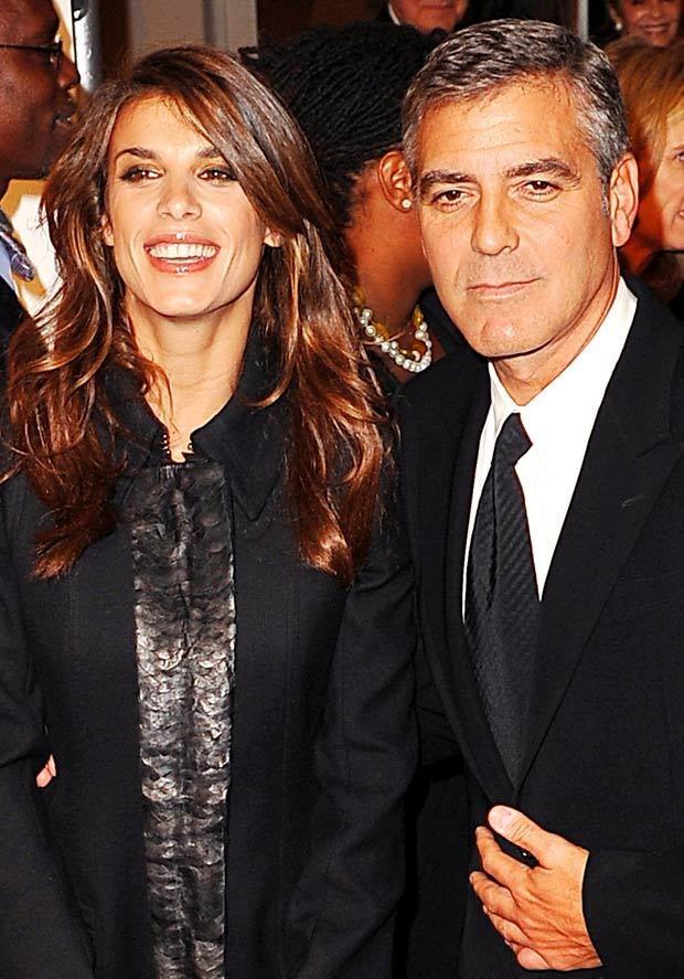 Clooney i Elizabetta Canalis  /Splashnews