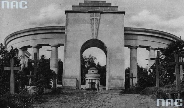 Cmentarz Orląt we Lwowie. Zdjęcie sprzed 1939 roku /Z archiwum Narodowego Archiwum Cyfrowego